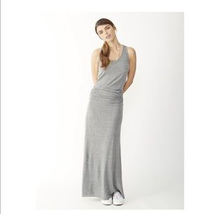 Alternative Apparel Go Fish el Grey Maxi Dress Xs